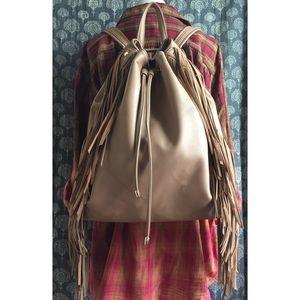 Deux Lux Tan Fringe Backpack
